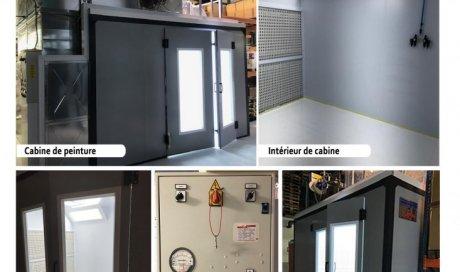Installation cabine de peinture liquide hors poussière