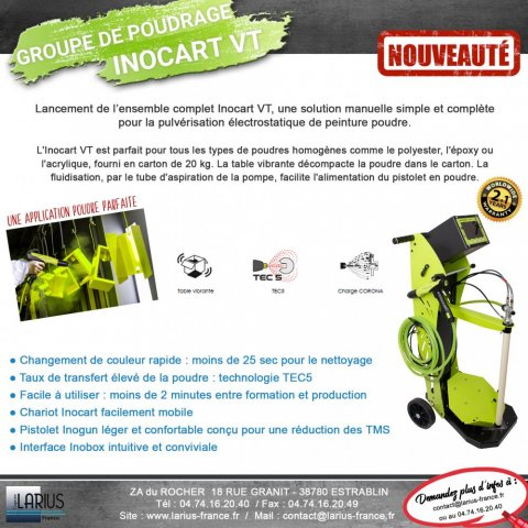 Groupe de poudrage - special thermolaquage