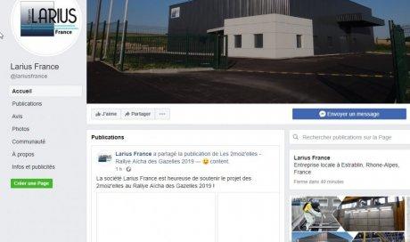 Page Facebook Larius France
