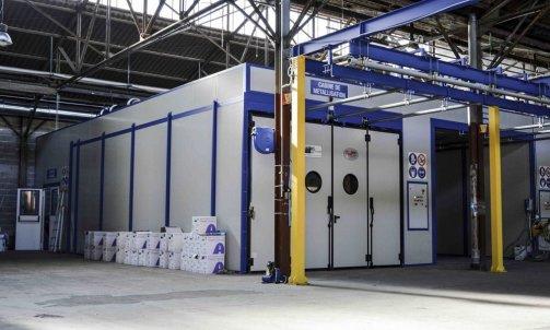 cabine de metallisation